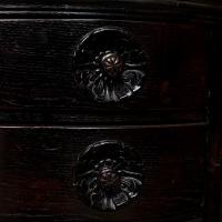 Austrian Ebonised Oak Glazed Dresser Bookcase Display Cabinet (4 of 12)
