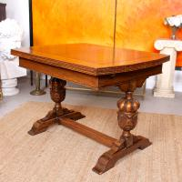 Oak Dining Table & 6 Chairs c.1920 (18 of 19)