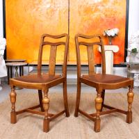 Oak Dining Table & 6 Chairs c.1920 (10 of 19)