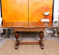Oak Dining Table & 6 Chairs c.1920 (12 of 19)