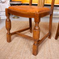 Oak Dining Table & 6 Chairs c.1920 (9 of 19)