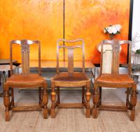 Oak Dining Table & 6 Chairs c.1920 (5 of 19)