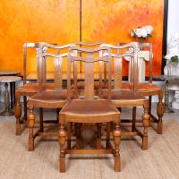 Oak Dining Table & 6 Chairs c.1920 (2 of 19)