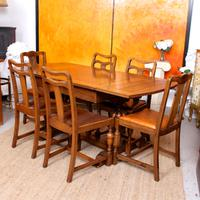 Oak Dining Table & 6 Chairs c.1920 (16 of 19)