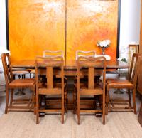 Oak Dining Table & 6 Chairs c.1920 (15 of 19)