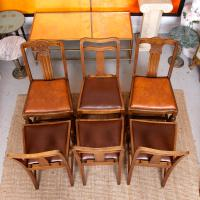 Oak Dining Table & 6 Chairs c.1920 (3 of 19)