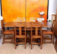 Oak Dining Table & 6 Chairs c.1920 (14 of 19)