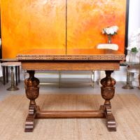 Oak Dining Table & 6 Chairs c.1920 (11 of 19)