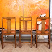 Oak Dining Table & 6 Chairs c.1920 (6 of 19)