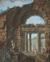 Charles-Louis Clerisseau Classical Gouache