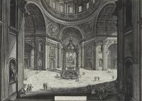 Giovanni Battista Piranesi 'St Peter's Basilica', 1st State c.1773