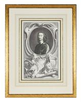 Group of 18th Century Portrait Etchings by Jacobus Houbraken (13 of 17)