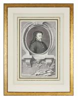 Group of 18th Century Portrait Etchings by Jacobus Houbraken (15 of 17)