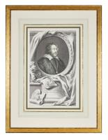 Group of 18th Century Portrait Etchings by Jacobus Houbraken (4 of 17)