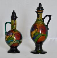 Two Beautiful Dutch Art Deco Gloss Plated Liqueur Jugs c.1920 (4 of 12)