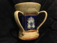 Antique Royal Doulton Stoneware Art Pottery Four Handle Loving Cup