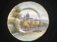 Royal Worcester Hand Painted St Paul's Signed Cabinet Plate