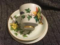 Davenport Cup, Saucer & Plate c.1850 (Trio)