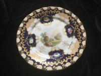 19th Century Cabinet Plate with a View Landscape