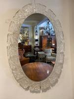 Oval Illuminated Lucite Mirror