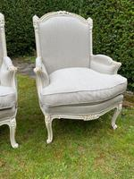 Pair of Large Upholstered French Armchairs (5 of 9)