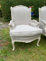 Pair of Large Upholstered French Armchairs (4 of 9)