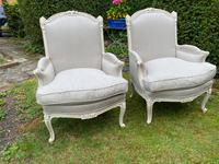 Pair of Large Upholstered French Armchairs (3 of 9)