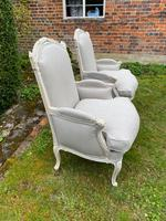 Pair of Large Upholstered French Armchairs (8 of 9)