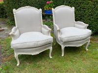 Pair of Large Upholstered French Armchairs (2 of 9)