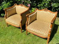 Pair of Carved Walnut Armchairs (4 of 9)