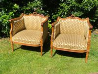 Pair of Carved Walnut Armchairs (2 of 9)