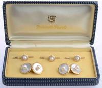 Mikimoto 14K Akoya & Mother of Pearl Dress Set