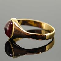 18ct Yellow Gold Synthetic Ruby Signet Ring (7 of 7)