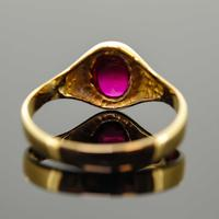 18ct Yellow Gold Synthetic Ruby Signet Ring (5 of 7)