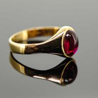 18ct Yellow Gold Synthetic Ruby Signet Ring (4 of 7)