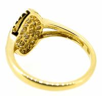 18ct Yellow Gold Antique Style Diamond Cluster Ring (4 of 6)