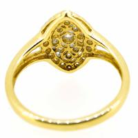 18ct Yellow Gold Antique Style Diamond Cluster Ring (3 of 6)