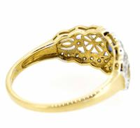 9ct Yellow Gold Antique Style Sapphire & Diamond Ring (4 of 8)