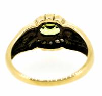 9ct Yellow Gold Antique Style Peridot and Seed Pearl Dress Ring (4 of 8)