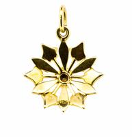 Early 20th Century 15ct Yellow Gold Turquoise & Pearl Star Pendant (5 of 5)