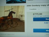 A Victorian Child's Horse Cycle--Original Condition. Rideable and Very RAre! (14 of 14)