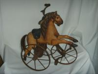 A Victorian Child's Horse Cycle--Original Condition. Rideable and Very RAre! (2 of 14)