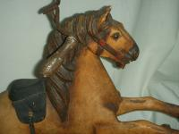 A Victorian Child's Horse Cycle--Original Condition. Rideable and Very RAre! (3 of 14)