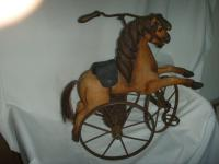 A Victorian Child's Horse Cycle--Original Condition. Rideable and Very RAre!