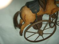 A Victorian Child's Horse Cycle--Original Condition. Rideable and Very RAre! (4 of 14)