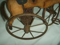 A Victorian Child's Horse Cycle--Original Condition. Rideable and Very RAre! (5 of 14)