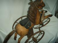 A Victorian Child's Horse Cycle--Original Condition. Rideable and Very RAre! (9 of 14)