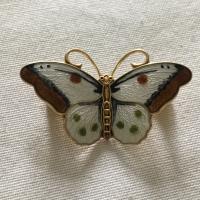 Enamel Butterfly Brooch by Hroar Prydz, Norway c.1960 (2 of 3)