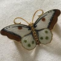 Enamel Butterfly Brooch by Hroar Prydz, Norway c.1960