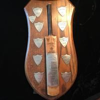 Cricket League Trophy with Silver Shields 1957